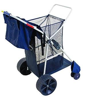Rio Beach Wonder Wheeler Wide Beach Utility Foldable Cart