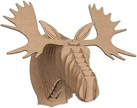 Cardboard Safari Mailable Nano Animal Heads (Moose, Brown)