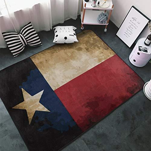 MODREACH Soft Bedroom Rugs - 60 x 39 inches Floor Rugs Nursery Carpet for Living Room Kids Room Nursery Home Decor Area Rug, Vintage Flag Texas