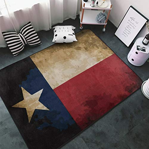 MODREACH Soft Bedroom Rugs - 60 x 39 inches Floor Rugs Nursery Carpet for Living Room Kids Room Nursery Home Decor Area Rug, Vintage Flag Texas