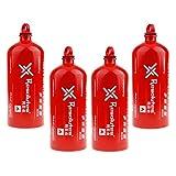perfeclan 4pcs 1500ml Botella De Almacenamiento De Combustible Líquido Contenedor De Gas para Estufa De Camping Al Aire Libre