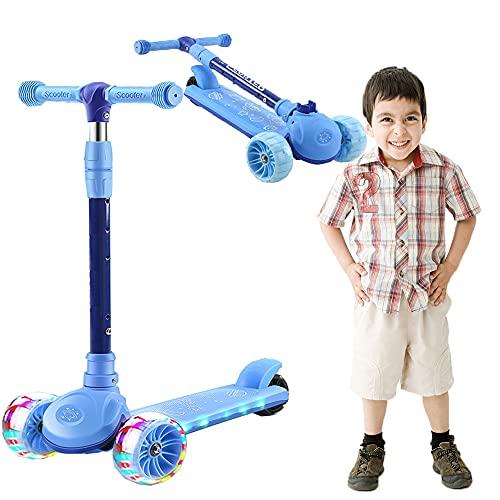 Patinete infantil de 3 ruedas para niños y niñas de 3 ruedas,...