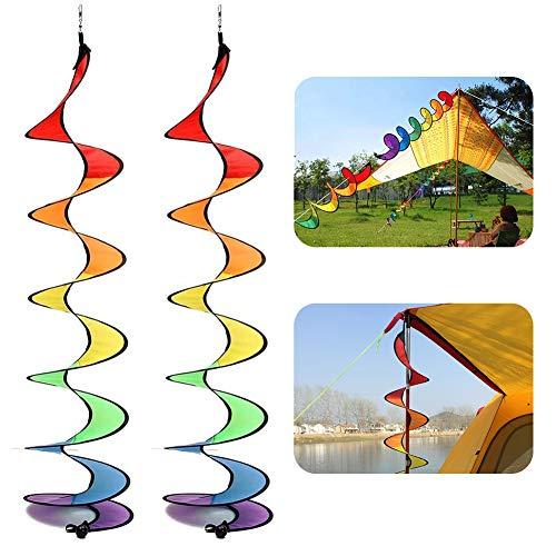 BESLIME Spirale Regenbogen Wind Windspiel Windmühle, Regenbogen-Windmühle, bunt, Windspiel für Garten und Zuhause