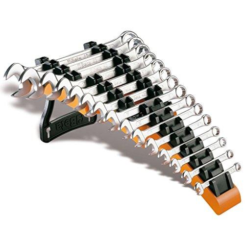 Beta - Serie de 15 llaves combinadas profesionales, soporte de taller mecánico SP15