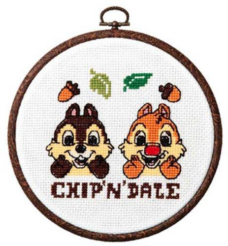 ディズニー 刺繍キット オリムパス チップ&デール/7321 [刺しゅうキット/ししゅう/クロスステッチ/初心者]