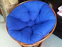 ラウンドハンギングウィッカー籐の椅子のクッションソリッドパティオシートクッションタフトフロアクッションは、枕を投げ (Color : C, Size : 100x100cm(39.4x39.4inch))