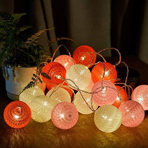Dpliu-JJ String Light Luci Decorative Indoor/Outdoor Natalizia, LED Cotone Sfera Chiara luci Stringa for la Festa di Compleanno di Natale casa di Cerimonia Nuziale Tabella