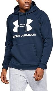 Under Armour UA Mens Rival Fleece Logo Hoodie - Navy - M