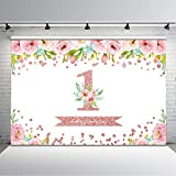Avezano 7x5ft Rose Gold Flower Birthday...