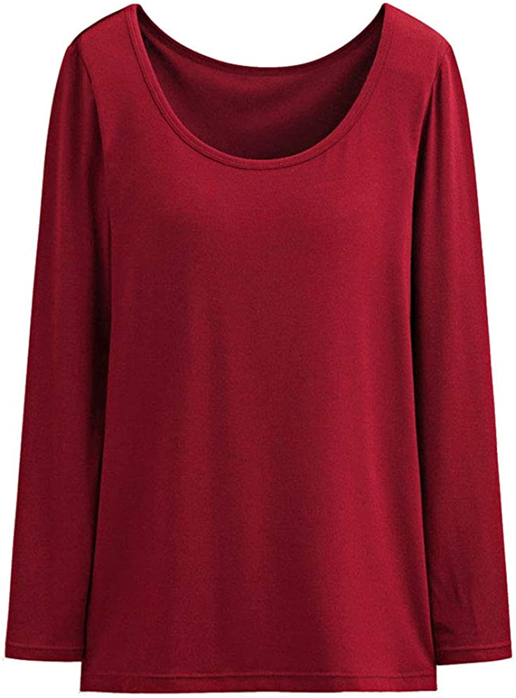 Womens Thermal Max 70% OFF Built-in Bra Winter Long Base L Soft In stock Ultra Sleeve