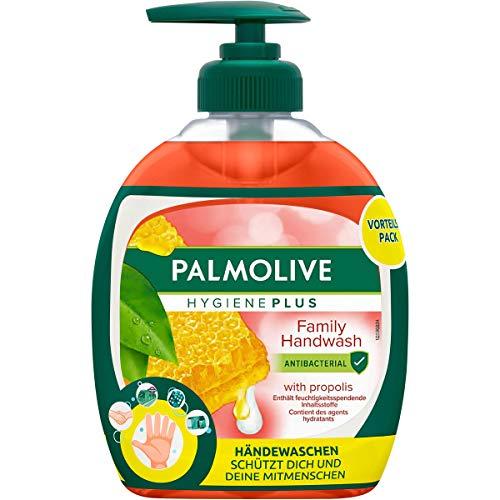 Palmolive Seife Hygiene-Plus Family, antibakteriell & mit Propolis-Extrakt, 12er Pack (6x Flasche mit Pumpe & 6x Nachfüllflasche)