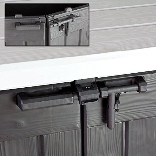 Koll Living Gartenbox Mülltonnenbox Gerätebox Schuppen für 2x 240 Liter Mülltonnen Gratis nur bei uns : inkl. Vorhängeschloss - 6