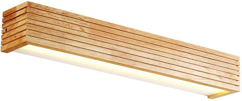 Mkxiaowei Moderne Holzwand Lampe Bad Spiegel Befestigung Flur Wand Lampe Bett Lampe Nordic Haus Beleuchtung Lampe Retro Wand Wandleuchte