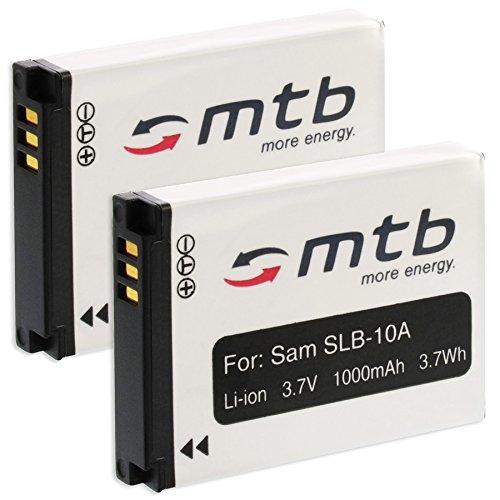 2x batteria SLB-10A per Samsung ES50, ES55./JVC ADIXXION/Toshiba X-Sports/Silvercrest + Altri. (S. lista)