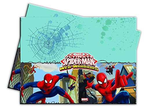 Procos 1 Tischdecke * Ultimate Spiderman * für Geburtstagsfeier oder Motto-Party // Kinder Geburtstag Party Plastic Table Cover Web Warriors Superheld Spinne Marvel