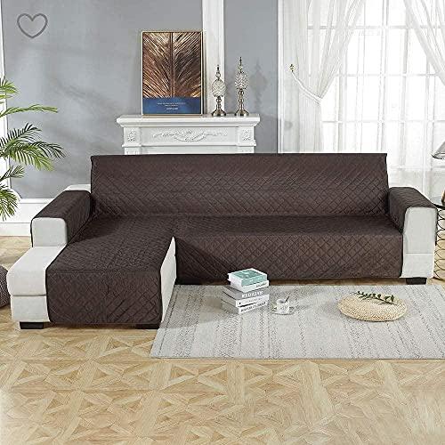 ADIS Funda de sofá impermeable en forma de L para sofá esquinero, lavable a máquina, protector de muebles para mascotas, perros, gatos, 200 x 270 cm, color negro
