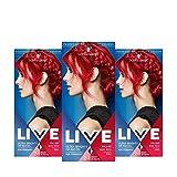 Schwarzkopf Live Ultra Bright oder Pastell Haarfarbe, semi-permanente Farbergebnisse - 3x 092...