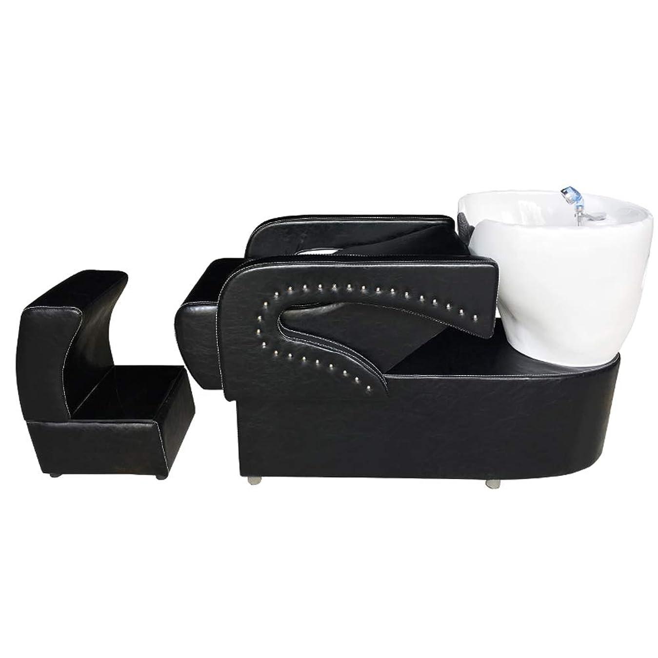 カニの間で修羅場シャンプーの理髪師の逆洗の椅子、鉱泉の美容院のためのシャンプーボールの流しの椅子は半くぼみのフラッシュベッドを流します