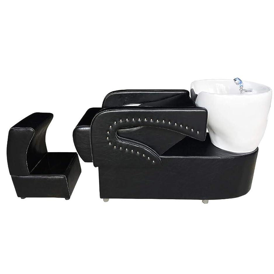 パトロンお世話になった強制的シャンプーの理髪師の逆洗の椅子、鉱泉の美容院のためのシャンプーボールの流しの椅子は半くぼみのフラッシュベッドを流します