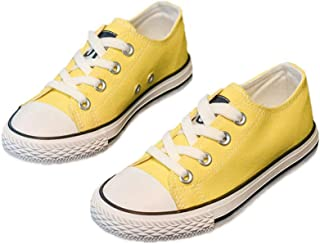 Boys and Girl Low Top Canvas Kids Lace up Sneakers