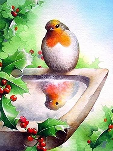 5d pintura de diamantes taladro completo pájaro redondo bordado diamante arte punto de cruz decoraciones de animales para el hogar A6 40x50cm