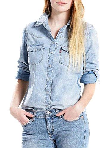 Levi's Modern Western, Blusa para Mujer, Azul (Indigogo 0021), 34 (Talla del fabricante: Small)