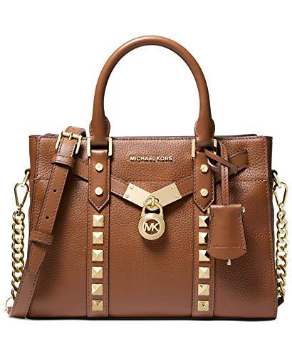 MICHAEL Michael Kors Nouveau Hamilton Small Embellished Pebbled Leather Satchel Bag, Luggage