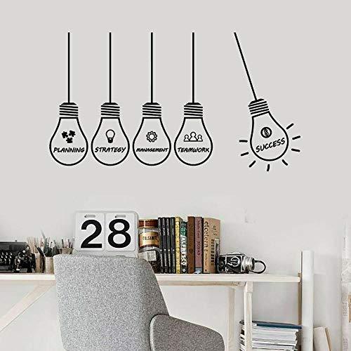 Usmnxo Etiqueta de la Pared Oficina Estrategia Creativa Gestión Éxito Lámpara Vinilo Etiqueta de la Pared Decoración Interior Creativa Ventana Arte Mural 74x131cm