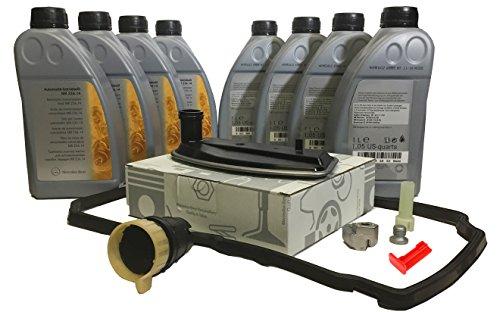 KIT CAMBIO COMPLETO aceite/fluido de la transmisión automática ORIGINAL de Mercedes Benz ATF 134 8L MB236.14 + A1402770095