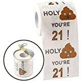 Happy 21st Birthday Gifts for Women and Men | 3-Ply Funny Toilet Paper Roll | 21st Birthday Toilet Paper | Gag Funny Birthday Gift | Toilet Paper Novelty for 21 Birthday Party Decorations