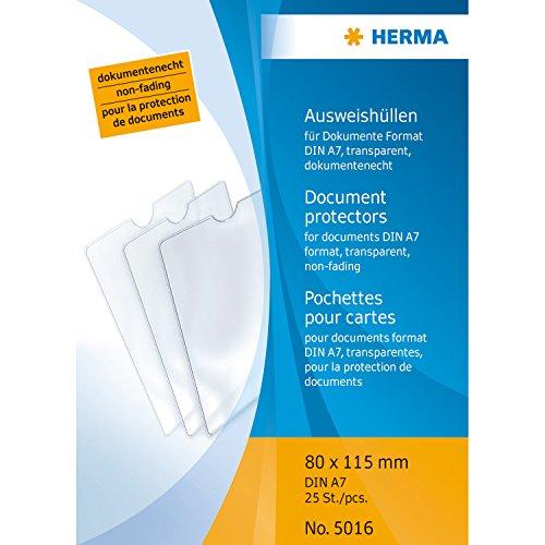 Herma 5016 Ausweishülle für DIN A7, 80 x 115 mm, 1 Hülle