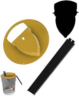Yagerod Souris de Couvercle de Seau à glissière avec échelle, piège à Rat de Souris à Couvercle de Seau Flip N Slide (Comp...