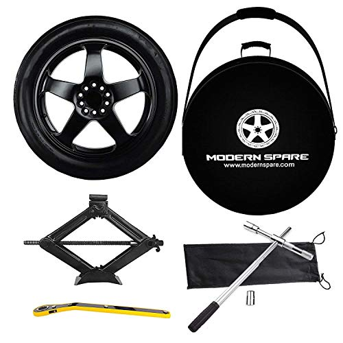 Complete Compact Spare Tire Kit w/Carrying Case - Fits 2006-2018 (5th & 6th Gen) BMW 3 Series -...