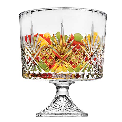 Godinger Gourmet Trifle Bowl Dish - Dublin Crystal Collection