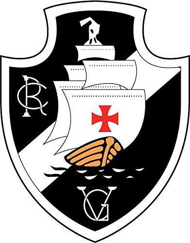 Vasco da Gama FC Brasile Calcio auto decalcomania 10 x 12 cm