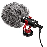 Technical Pro Condenser Compact on-Camera Microphone, for Vlogging with Smartphones, DSLRs, Consumer Camcorders, PCs etc