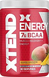 XTEND Energy BCAA Powder Mango   125mg Caffeine + Sugar Free Pre Workout Muscle Recovery Drink with