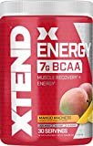 XTEND Energy BCAA Powder Mango | 125mg Caffeine + Sugar Free Pre Workout Muscle Recovery Drink with Amino Acids | 7g BCAAs for Men & Women | 30 Servings | Packaging May Vary , 12.27 Ounce (Pack of 1)