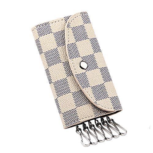キーケース 6連 高級レザー スマートキーケース 多機能 携帯用 小銭入れ ミニ 格柄