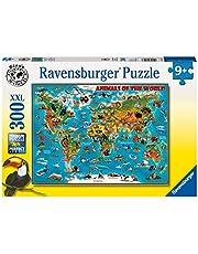 Ravensburger 13257-300 bitar XXL Barnpussel från 9 år - perfekt ålderspassning - Djurens värld - en rolig aktivitet för familjen och barnen