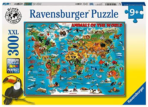ラベンスバーガー(Ravensburger) ジグソーパズル 300ピース どうぶつ世界地図 9歳から 13257 7
