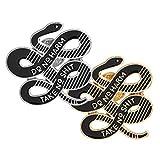 Happyyami Spilla Serpente 2 Pezzi Lega Smalto Spilla Bavero Spilla Seno Corpetto per Vestiti Borsa dei Jeans (Argento Dorato)