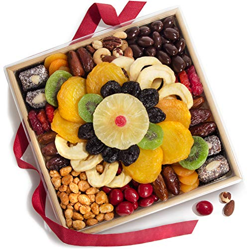 Tapestry of Dried Fruit and Nuts Christmas Basket