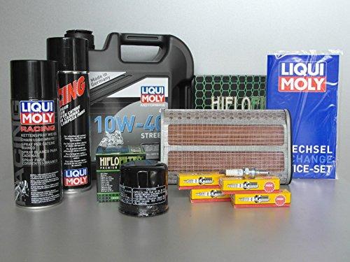 Wartungs - Set passend für Honda CBF 600 PC43, mit Oelfilter, Zündkerze, Kettenfett, Oel Motorrad