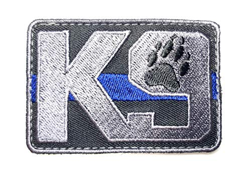 PakedDeals Thin Blue Line K9 Morale Patch Hook & Loop Police Bag Tac Vest
