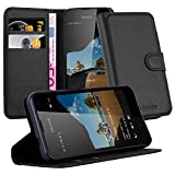 Cadorabo Book Case works with Nokia Lumia 550 in OXID BLACK
