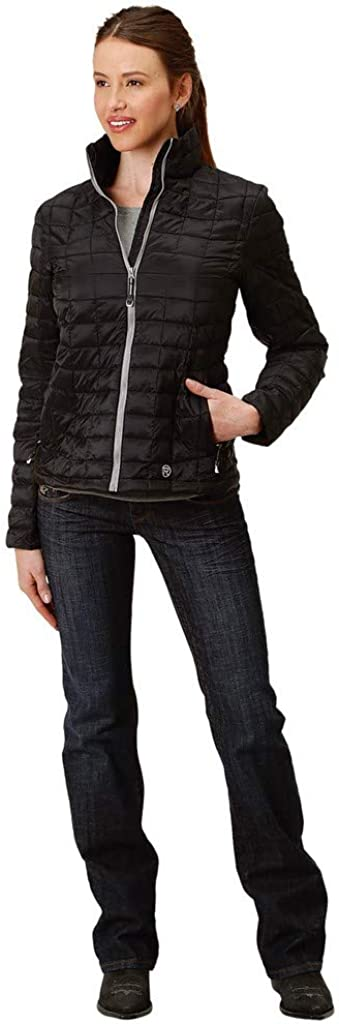 Roper Western Jacket Womens Down-Like Quilted Zip 03-098-0693-6112 BL
