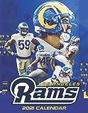 Los Angeles Rams 2021 Calendar: 8.5x 11 Monthly Square Wall Calendar