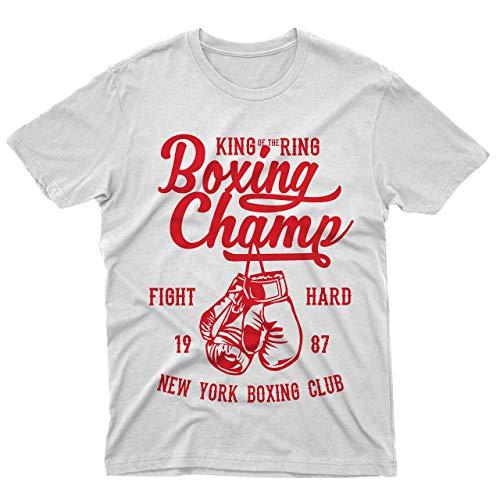 fm10 T-Shirt Boxing Champ Probe Boxen Boxen Boxhandschuhe Sport - Weiß, L/Donna