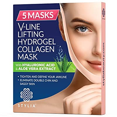 Amazon - 15% Off on 5 Piece V Line Shaping Face Masks – Lifting Hydrogel Collagen Mask with Aloe Vera